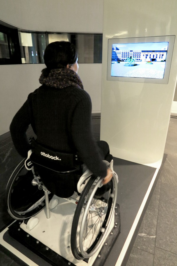Michelle on a wheelchair