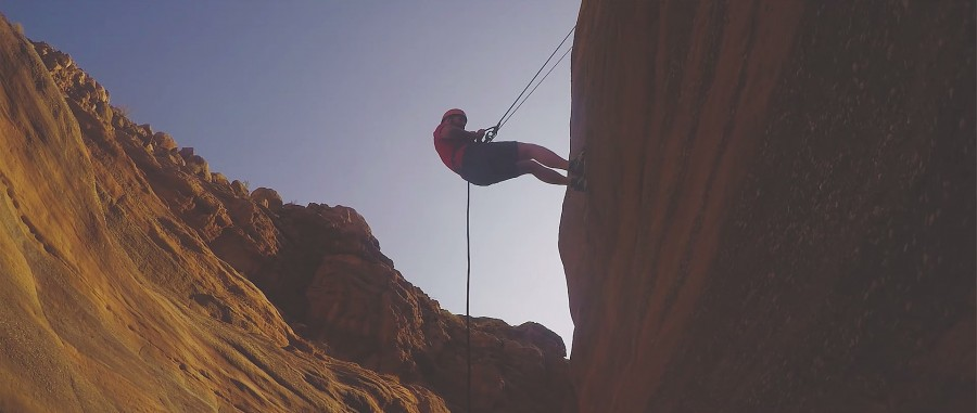 Ryan abseiling