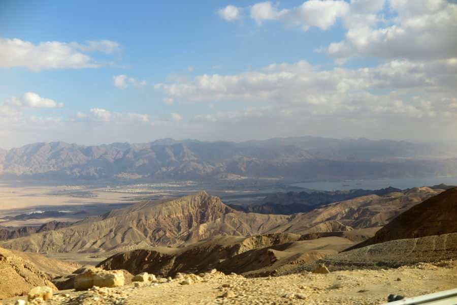 The view towards Eilat on travelling from the airport by bus.