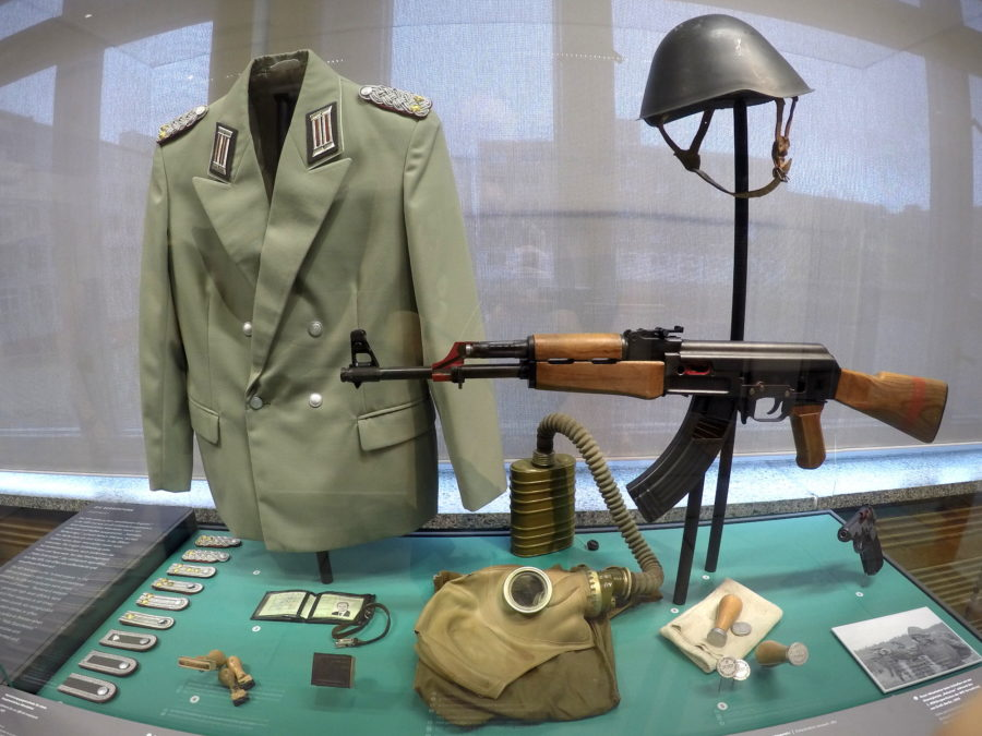 Stasi uniform and weaponry