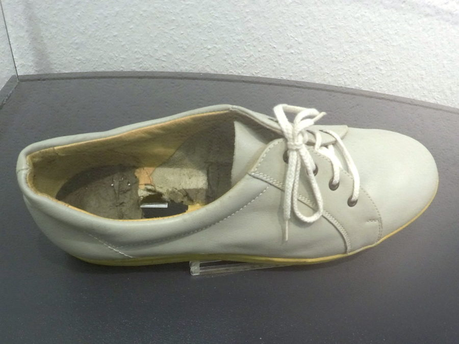 Get Smart would be proud. A shoe designed to hide various equipment, including listening devices.