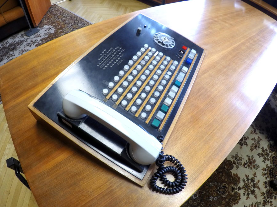 Erich Mielke's telephone. It includes hot numbers for all of the major communist bloc places the Stasi needed to communicate with.